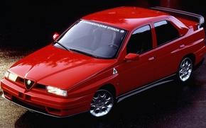 Picture 155, Alfa Romeo, Red, Tuning, Strada, Alfa Red, Alfa Romeo 155, Alfa 155, Alfa 155 ...