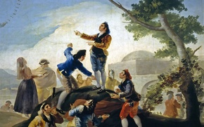 Picture genre, the game, picture, Kite, leisure, Francisco Goya