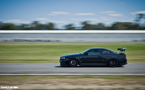 Picture speed, GT-R, black, Skyline, ER34