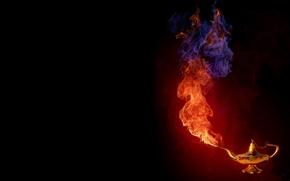 Wallpaper smoke, gin, lamp, fire