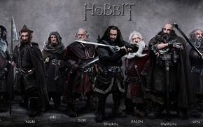 Picture dwarves, company, swords, hike, The hobbit, The Hobbit, The hobbit: an Unexpected journey, Thorin, Oakenshield, …