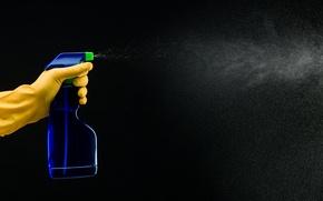 Picture spray, plastic bottle, trigger latex gloves, cleaner