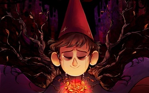 Picture branches, boy, art, tears, Host, Wirth, Over the Garden Wall, CherryVioletS
