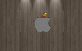 Wallpaper pattern, apple, logo