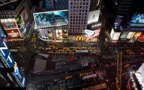 Picture night, the city, new york, times square