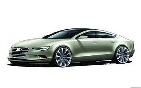 Picture car, machine, Audi, sketch