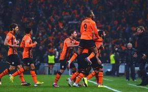 Picture The game, Sport, Football, Luiz Adriano, Dmytro Chygrynskiy, Darijo Srna, Donetsk, Miner, Shakhtar, Tyson, Razvan ...