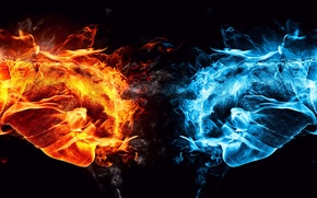 Picture fire, abstract, color