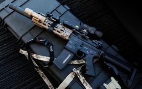 Picture weapons, machine, HK416, Heckler & Koch