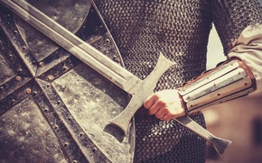 Picture armor, shield, long sword, armor meshes, medieval soldier