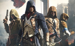 Picture Look, Cathedral, Light, Flag, Weapons, Hood, Ubisoft, Assassin's Creed, Ubisoft Montreal, Equipment, Arno, Arno, Assassin's ...