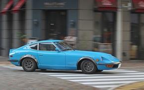 Picture Speed, Turn, Datsun, 260Z, Sports, Fairlady Z, Manufacturer, Nissan Motors, Nissan S30, Hatchback, In profile