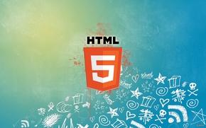 Picture network, paint, logo, spot, Internet, html5, hyper text markup language, html, web, web