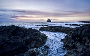 Picture sea, the sky, water, horizon, Stones