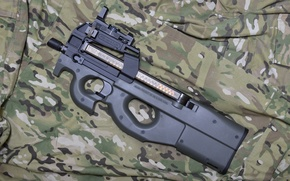 Picture weapons, camouflage, the gun, FN P90