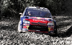 Picture Auto, Sport, Machine, Stones, Turn, Skid, Citroen, Gravel, WRC, Rally, Rally, The roads