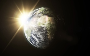 Picture sun, planet earth, planet