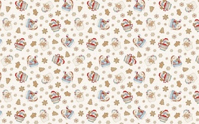 Wallpaper background, holiday, texture, New year, snowman