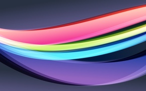 Picture color, abstraction, creative, bright, arc, curves, Creative, wallpapers