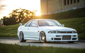 Picture Nissan, white, Skyline, R33