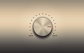 Picture controller, min, volume, max