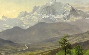 Picture snow, landscape, mountains, Blanc, Albert Bierstadt