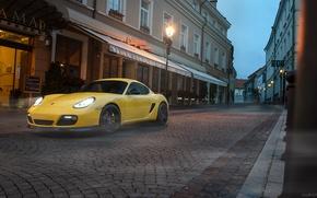 Wallpaper auto, street, Porsche, Machine, lantern, Cayman, auto