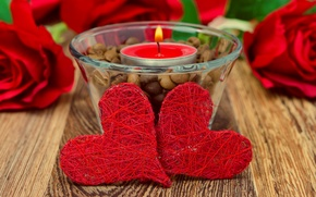 Picture love, Love, roses, grain, candles, heart, Coffee, red, Red, Candle, Beautiful, Rose, Roses, Beauty, Coffee, …