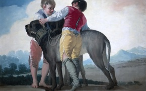 Picture genre, Children with Dogs, picture, Francisco Goya