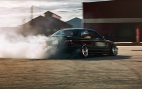 Picture tuning, BMW, BMW, black, drift, black, stance, e36