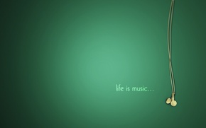 Wallpaper music, headphones, life, music, life