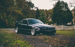 Picture BMW, black, Coupe, series, E36
