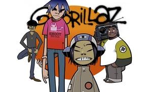 Picture music, group, grafiti, Russel, gorillaz, readers., noodle, Russell, Gorillaz, noodle, Murdoch