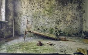 Wallpaper room, wall, bed