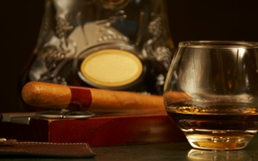 Picture glamour, bar, cigars, cognac