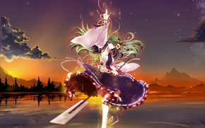 Picture girl, anime, art, Touhou
