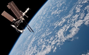 Picture space, planet, ISS, orbit