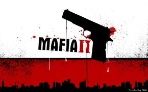 Picture red, gun, black, mafia2