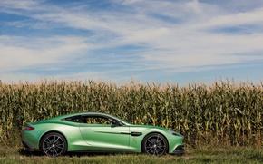 Picture Aston Martin, Green, V12, Vanquish