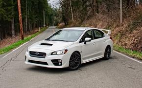 Picture Subaru, WRX, white, sti