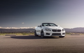 Picture BMW, Sky, Front, White, Forged, Convertible, Wheels, Strasse