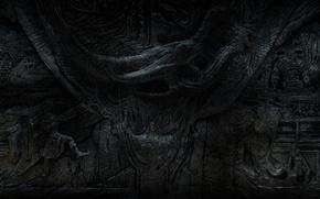 Picture bas, Skyrim, The Elder Scrolls V, Alduin's Wall, TES V