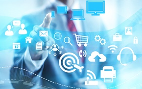 Picture technology, Internet, business, scheme