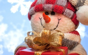 Picture New Year, Christmas, snowman, Christmas, snowman, Merry
