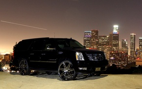 Wallpaper black, cadillac, escalade