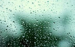 Wallpaper sadness, the storm, glass, water, drops, spring, Rain, blurred