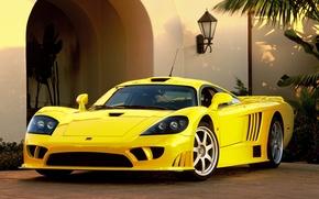 Wallpaper Yellow, Sport, Saleen
