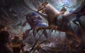 Picture starcraft, diablo, warcraft, arthas, Zeratul, sarah kerrigan, Sylvanas, Heroes of the Storm, moba, Anub'arak, Falstad