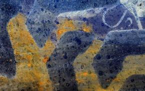 Picture surface, metal, color, texture