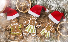 Picture cookies, new year, merry christmas, cookies, Merry Christmas, gingerbread, New year, Gingerbread, hat food, hat …